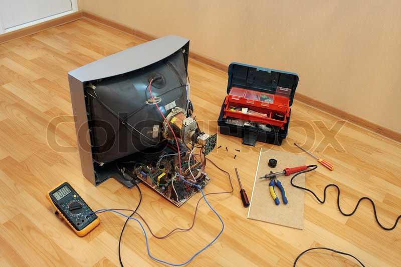 تعمیر تلویزیون crt